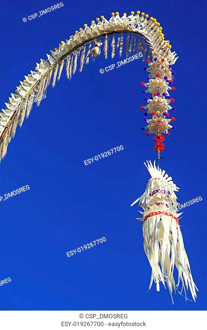 Traditional decorated Balinese penjor