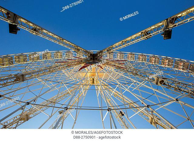 France, Alpes-Maritimes (06) Nice, the Promenade du Paillon, Fairground, Big Wheel