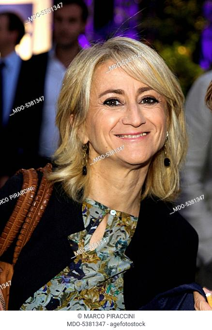 The actress and comedian Luciana Littizzetto smiling. Milan, Italy. 27th June 2014