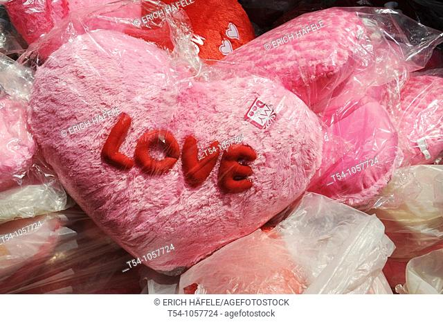 Pink Heart with the word Love