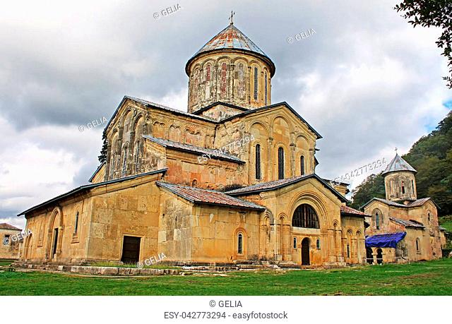 Gelati Monastery, Georgia. It contains the Church of the Virgin founded by the King of Georgia David the Builder in 1106