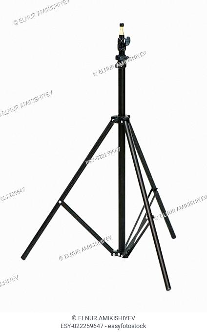 Tripod for studio lighting isolated on the white