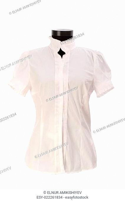Woman shirt isolated on the white background