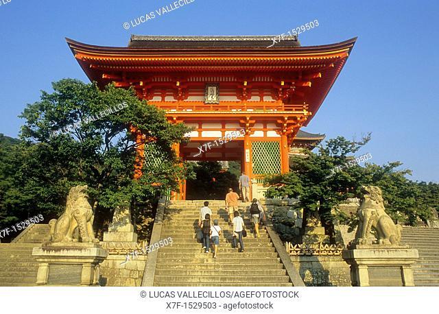 Main entrance of Kiyomizudera temple,UNESCO World Heritage Site,Kyoto, Japan