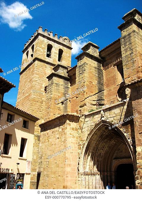 Sta Maria collegiate church Mora de Rubielos village Gudar mountains Teruel province Aragon Spain Europe