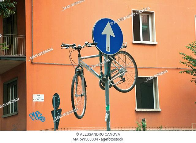 Bicicletta In Legno Inventore Tino Sana Stock Photo Picture And