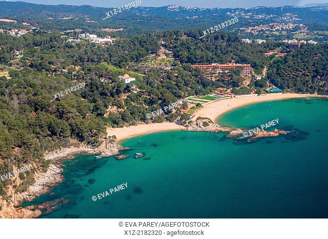 Santa Cristina Beach and Treumal beach. Lloret de Mar. Costa Brava