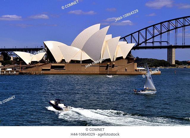 Opera House, Sydney, Nsw, Australia, Harbour, Music, Landmark, Opera, culture, water, sea, Harbour bridge, boats