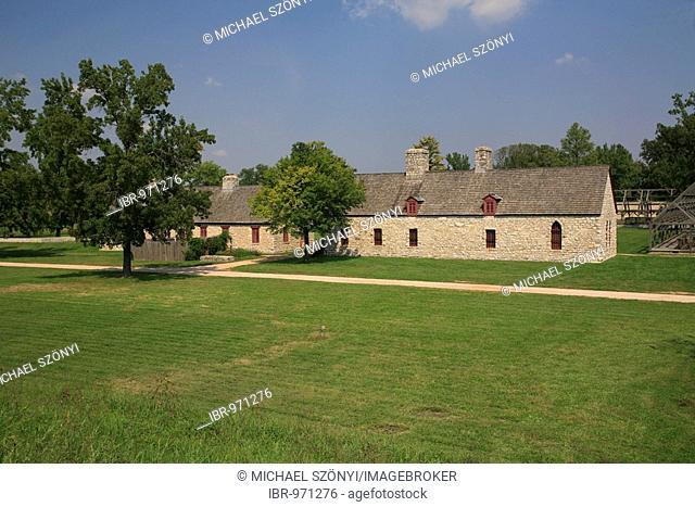 Fort de Chartres, one of three French forts with this name, built in the 18th century near the Mississippi, Fort de Chartres State Historic Site