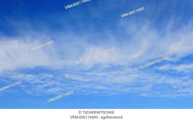 Blue sky, clouds