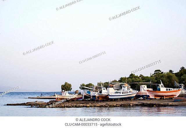 Boats in the Aegina of Island, Greece, Western Europe, Greece, Western Europe