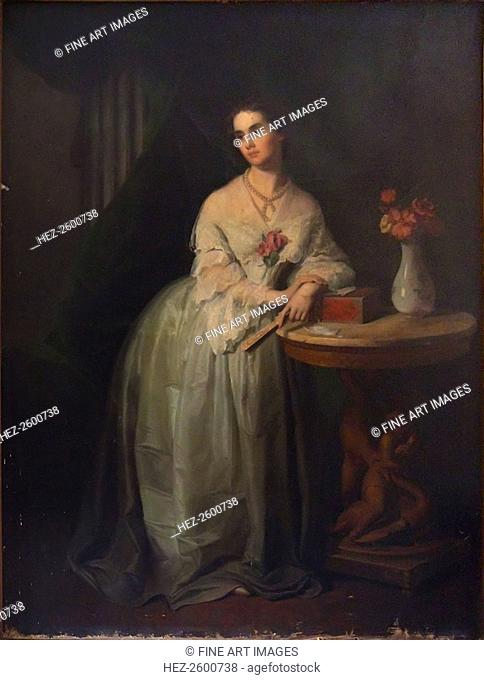 Portrait of Princess Nino Aleksandrovna Griboyedova (née Chavchavadze), Mid of the 19th cen. Found in the collection of the State Central A