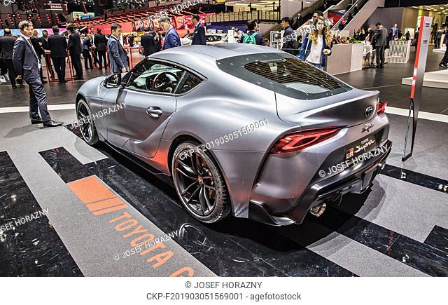 Toyota GR Supra was presented during the 2019 Geneva International Motor Show on Tuesday, March 5th, 2019. (CTK Photo/Josef Horazny)