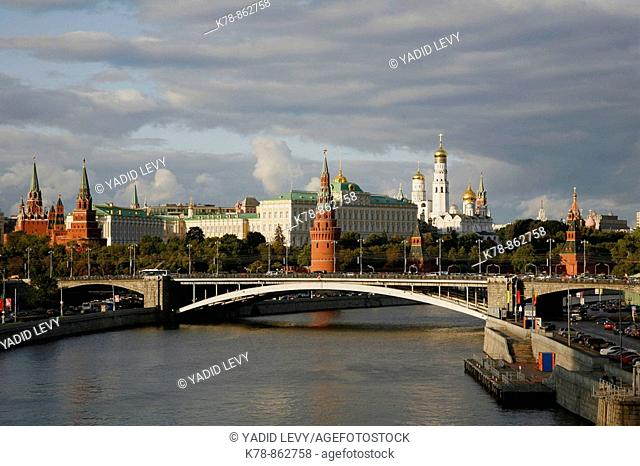 Sep 2008 - View Over the Kremlin and the Moskva river, Moscow, Russia