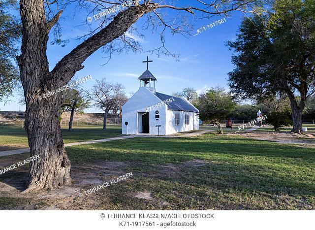 The historical La Lomita Chapel near Mission, Texas, USA