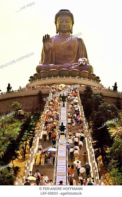 Buddha, Po Lin Monastery, Lantau Island, Hongkong, China