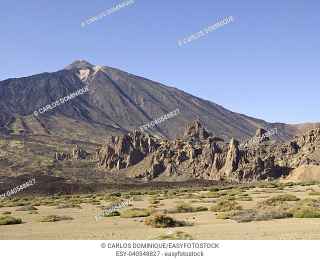 Teide view in Tenerife Island from the surroundings