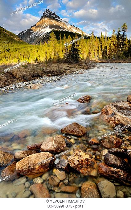 Silverhorn Creek and Mount Weed, Banff National Park, Alberta, Canada