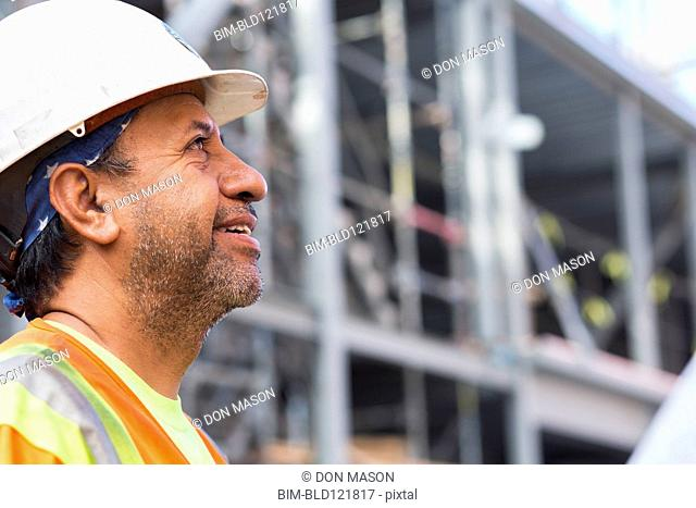 Hispanic worker at construction site