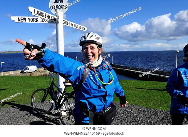 Fern Britton's #Challenge57 To cycle from John O'Groats to Land's End to raise funds to help Genesis Research Trust to end miscarriage