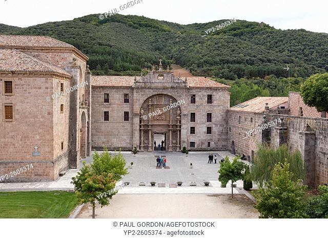 Monastery of San Millán de Yuso - San Millán de la Cogolla, La Rioja, Spain. The monastery is famous as the place where the Spanish and Basque languages were...