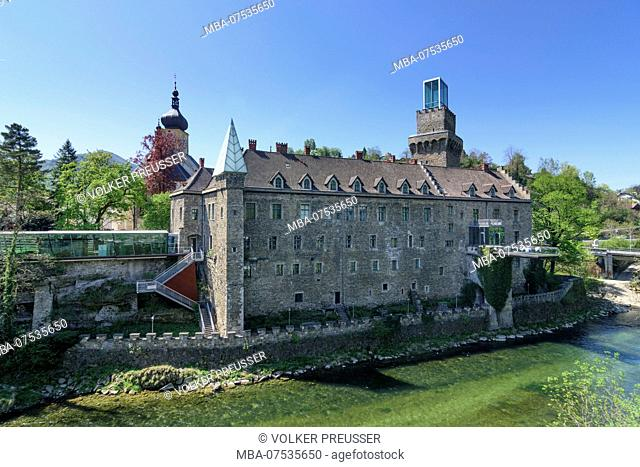 Waidhofen an der Ybbs, castle Rothschildschloss in Austria, Lower Austria (Niederösterreich), Mostviertel region