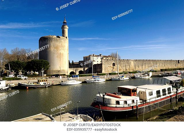 castle, Aigues-Mortes, Camargue, France