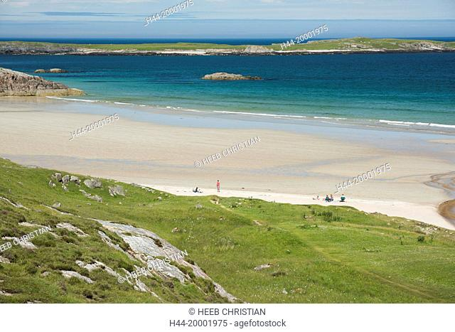 Scotland, Highlands, North Shore, northern beach in the summer