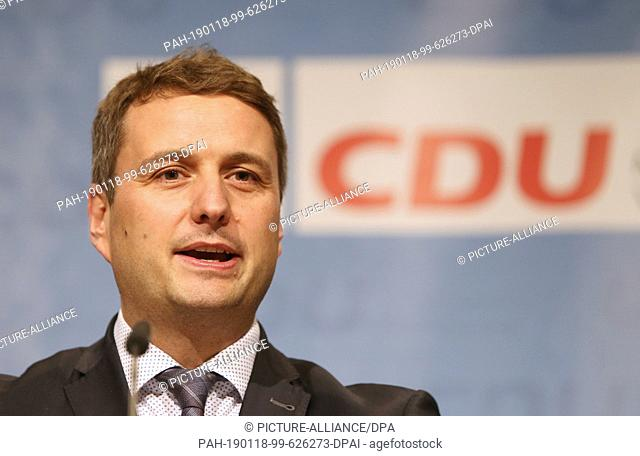 18 January 2019, Mecklenburg-Western Pomerania, Rostock: Vincent Kokert (CDU), state chairman of the CDU Mecklenburg-Western Pomerania