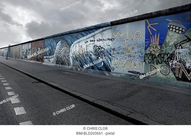 Graffiti on Berlin wall, Berlin, Berlin, Germany