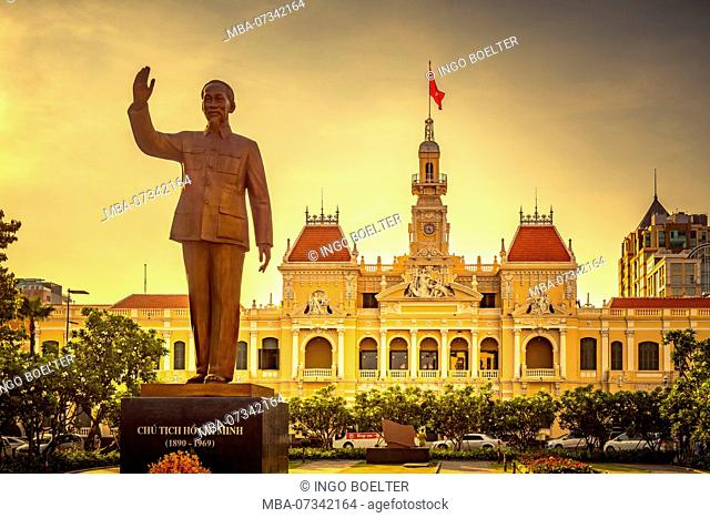 Asia, Southeast Asia, South Vietnam, Vietnam, Saigon, Ho Chi Minh City, City Hall