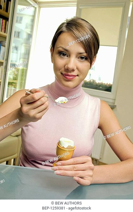 Young woman eating