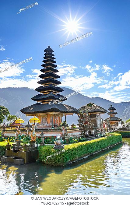 Pura Ulun Danu Temple on the Bratan Lake, Bali, Indonesia