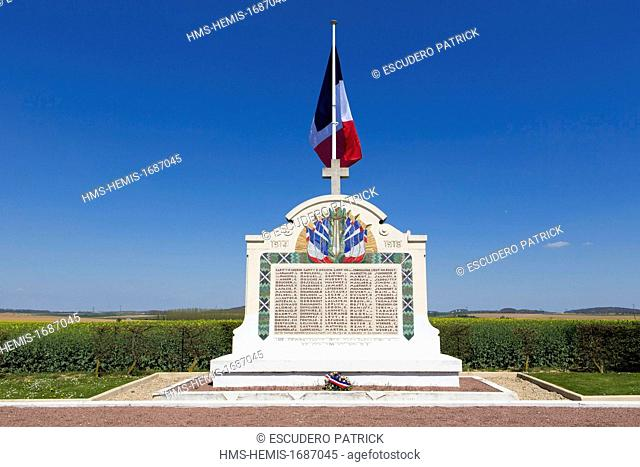 France, Seine et Marne, Villeroy / Chauconin Neufmontiers, Marne battlefields tour, Great Tomb of Villeroy where french writter Charles Peguy is burried