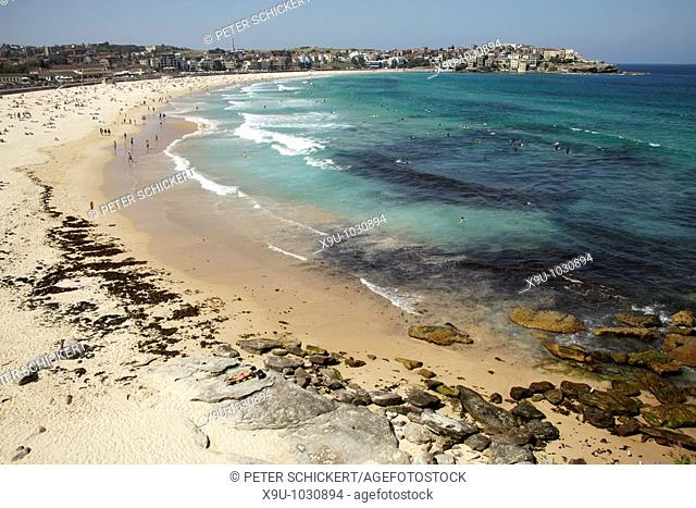 famous Bondi Beach in Bondi, Sydney, New South Wales, Australia