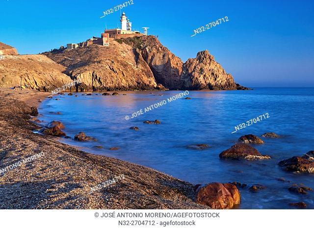 Cabo de Gata, Lighthouse, Cabo de Gata-Nijar Natural Park, Biosphere Reserve, Almeria, Spain, Europe