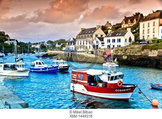 Doelan village  Brittany, France, Europe