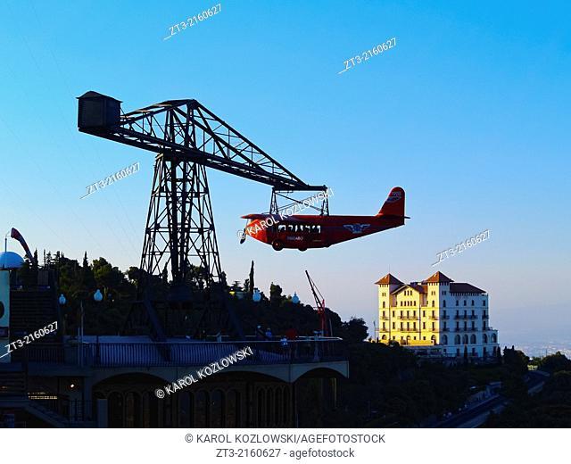 Tibidabo Amusement Park in Barcelona, Catalonia, Spain