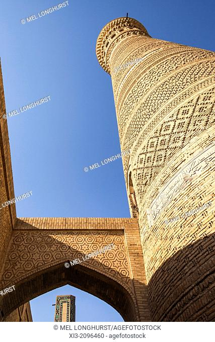Kalon Minaret, Kalon Mosque, also known as Kalyan Mosque, Poi Kalon, Bukhara, Uzbekistan