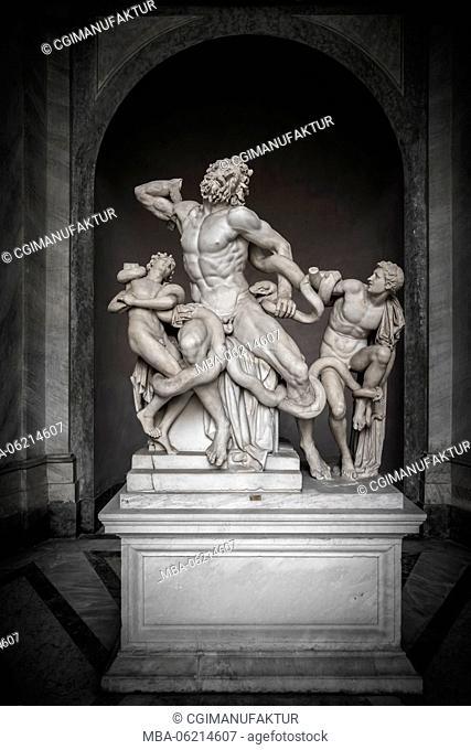 Italy, Rome, St. Peter's Basilica, Vatican Museum, Laokoongruppe
