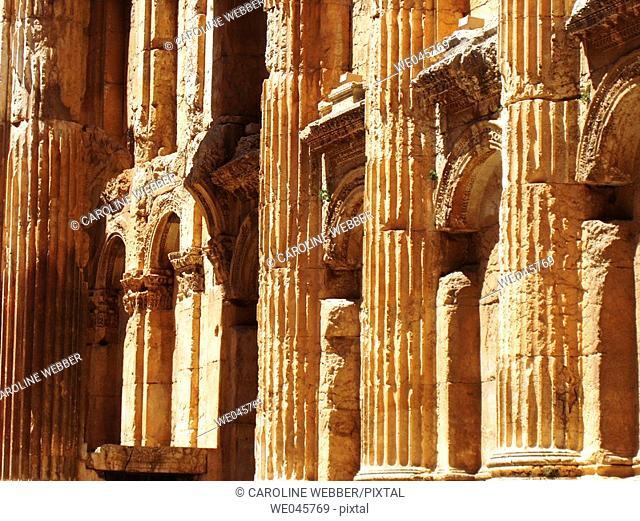 inside Temple of Jupiter, Baalbek, Lebanon