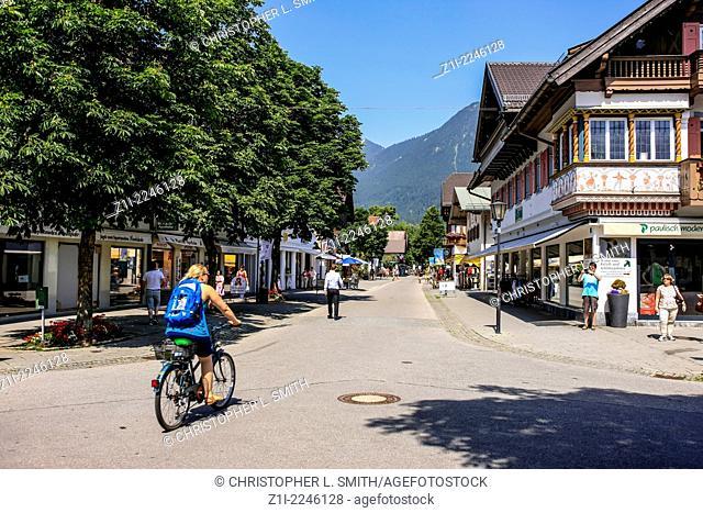 Michael-Ende-Platz in Garmisch-Partenkirchen, Bavaria
