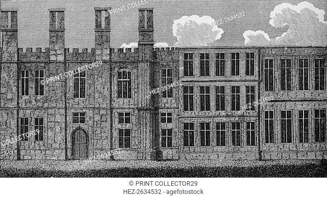The Manor House at Chelsea, built by Henry VIII, c1810 (1911). Artist: Unknown