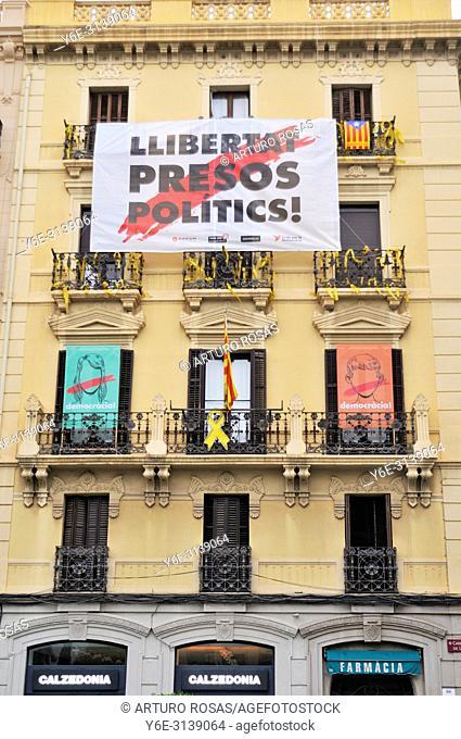 Banner for catalan politics liberty