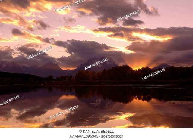 Sunset Clouds, Sky & Mount Moran, Grand Tetons NP, WY, September, digital capture