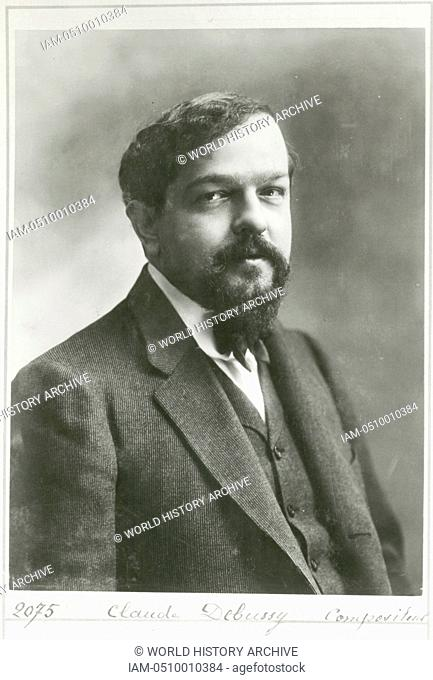 Claude Achille Debussy (1862-1918) French composer c1908. Influential in the transition into the modern era of Western music