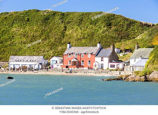 Porthdinllaen a small coastal village in the Dwyfor locality on the Llynn Peninsula, Gwynedd, Wales, United Kingdom, Europe