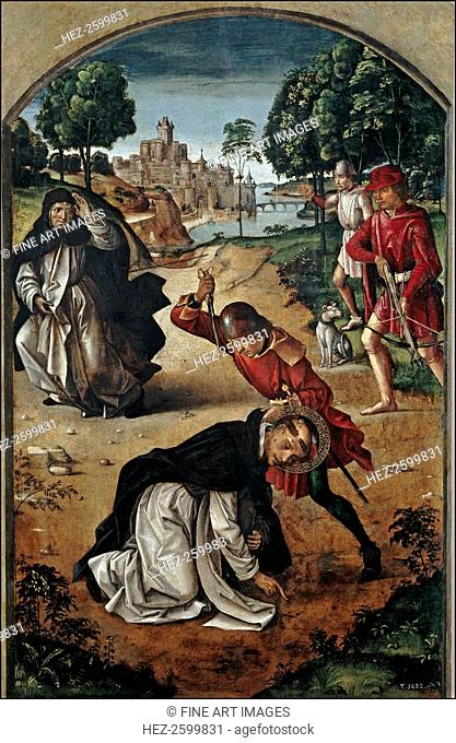 The Death of Saint Peter of Verona, 1493-1499. Found in the collection of the Museo del Prado, Madrid