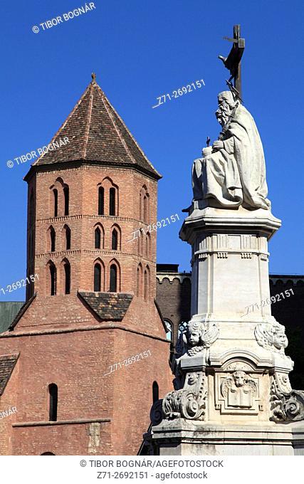 Hungary, Szeged, Demetrius Tower, Trinity Column,