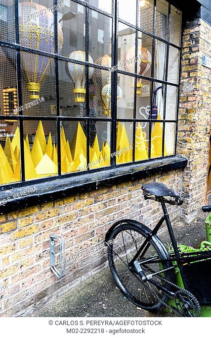 Design shop in Shoreditch in London, UK